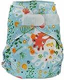 Blümchen Neugeborenen Überhose mit Klettverschluss (3-6kg) (Seepferd blau)