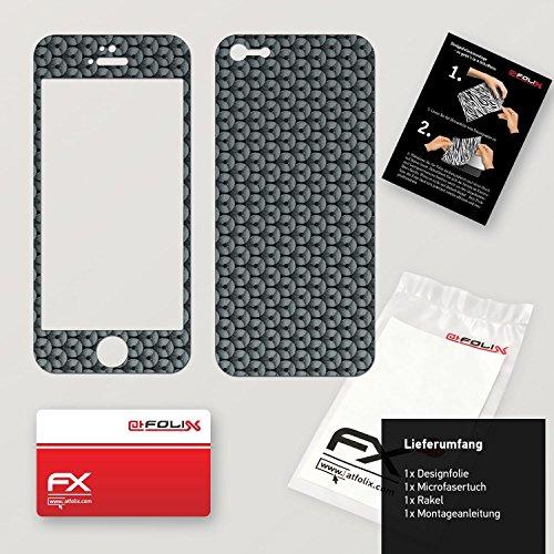 """Skin Apple iPhone 5C """"FX-Carbon-Black"""" Designfolie Sticker FX-Honeycomb-Grey"""