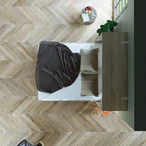 Schrankbett 160 x200 Vertikal Eiche Sonoma mit Gasdruckfedern, ideal als Gästebett – Wandbett, Schrank mit integriertem Klappbett, Schrankklappbett & Wandbett, SMARTBett - 7