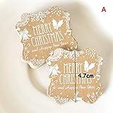 OneYANG 50 Stück Bastelpapier Hängeanhänger Weihnachten Party Drucken Etikett Preis Weihnachten Geschenk Karte A
