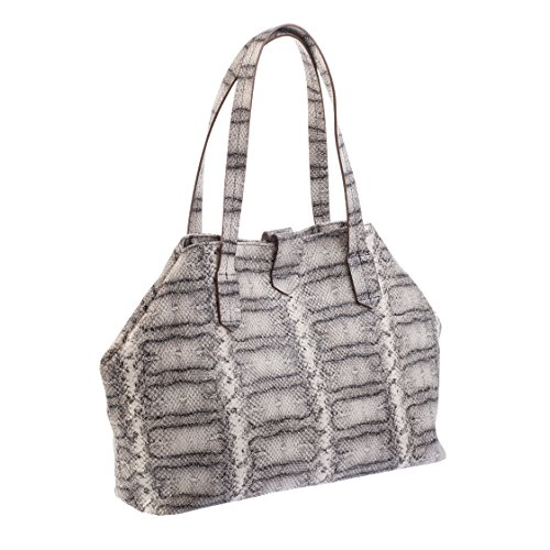 Tilla...Le Borse , sac bandoulière femme bianco/grigio lavato