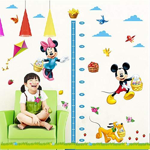 Kibi Pegatinas Infantiles Pared Minnie Pegatinas Decorativas Pared Medidor Altura Mickey Mouse Stickers...