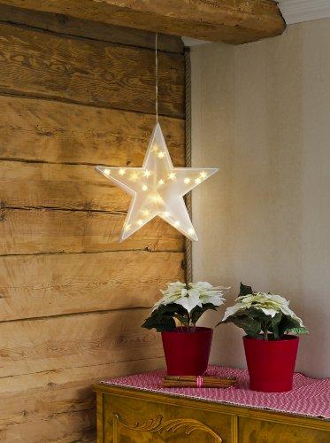 Konstsmide 2592-103 LED Kunststoffstern mit Sterneffekt / für Innen (IP20) / 24V Innentrafo / 20 warm weiße Dioden / transparentes Kabel - 4