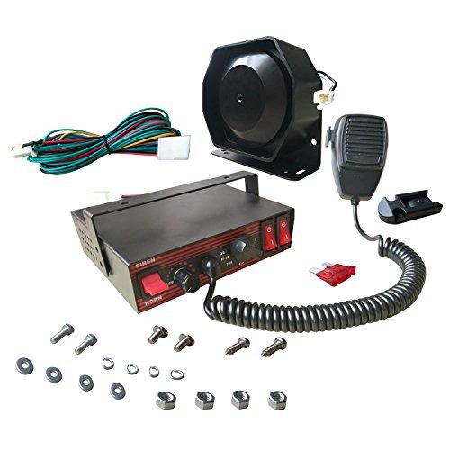 ASCJB100E-SPK0021, elektronische Sirene von AS, 3-teiliges Set mit Sirene, Mikrofon und Lautsprecher, 100 W, 8 Töne
