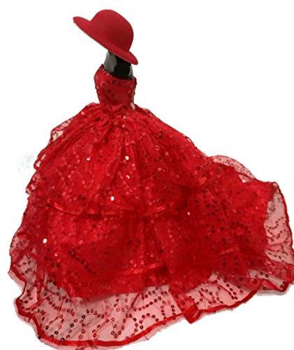 AK20 Schöne und modische Handgefertigte Puppe Kleidung für Barbie Puppen/kleid/Pyjama/Puppenzubehör Dress Up/Spitzenkleid (Kostüme Rapunzel Up Disney Dress)
