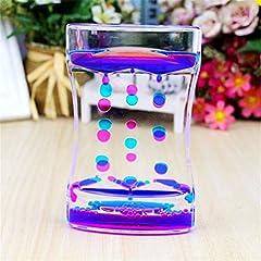Idea Regalo - CHOULI Water Motion Liquid Bubble Timer Calmante Sensitive Fidget Relax Toy Desk L Blu-Rosa