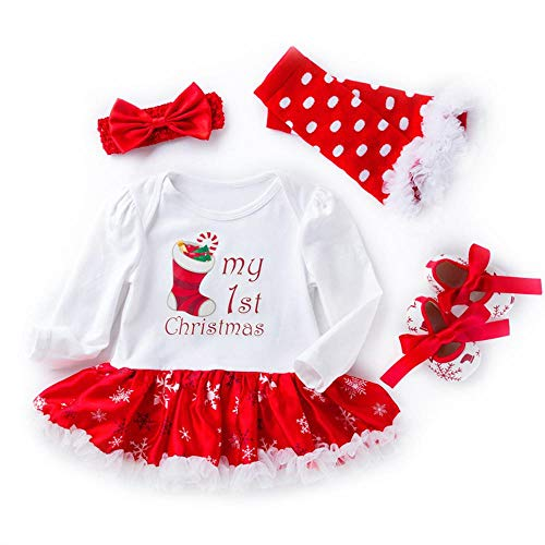 (AOLVO Kostüme für den 1. 2. Geburtstag für Babys, Kleinkinder, Mädchen, Weihnachten, Outfits für Babys, Kleinkinder, Neugeborene, Baby-Mädchen, Rock, Strampelanzug, Tutu-Kleid, weiß, 12-24 Monate)