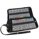 ipow Buntstifte 72 Farben Zeichenstifte Set - Marco Raffine Professional, mit tragbarer Roll-Up Federmappe, hohe Färbekraft und super Handhabung zum Zeichnen Skizzieren Kolorieren und Malbuch