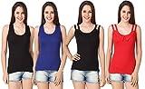 #10: Yati Women's Collar Neck and Razor cut cotton Camisoles(Pack of 4)