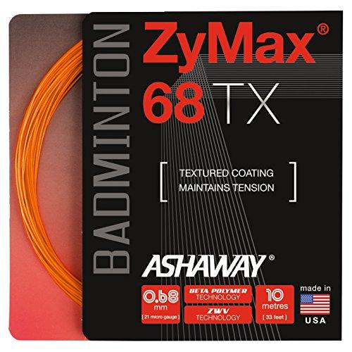ASHAWAY ZyMax 68TX Badminton Saiten Set, Orange (Saite Ashaway Badminton)