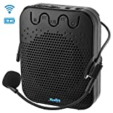 Moukey Va-1 Mini amplificatore vocale ricaricabile portatile con microfono e cuffia cablata Supporto audio in formato MP3 per insegnanti, canto, allenatori, formazione, presentazione, guida turistica