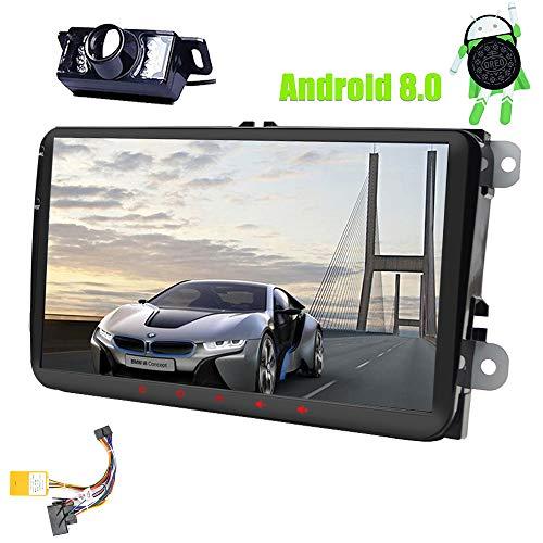 9inch Android 8.0 Double unité principale 2Din pour Polo de voiture VW Golf stéréo Jetta Passat Dans Dash Autoradio Récepteur FM AM RDS Canbus Core GPS Navigation Radio Caméra de recul stéréo