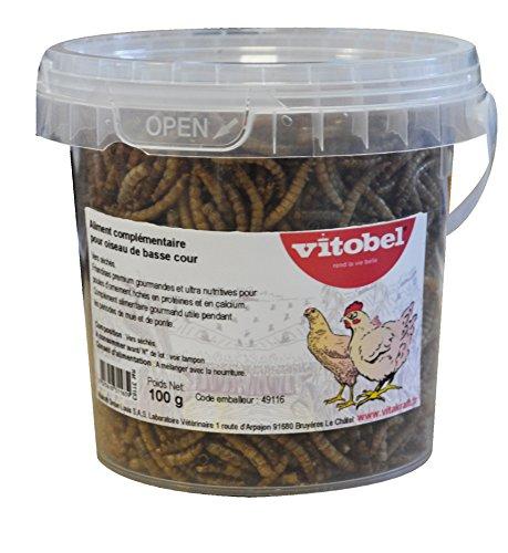Vitakraft Nourriture Vers Séchés pour Oiseau/Animal Sauvage 100 g - Lot de 4