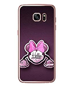Fuson Designer Back Case Cover for Samsung Galaxy S7 Edge :: Samsung Galaxy S7 Edge Duos :: Samsung Galaxy S7 Edge G935F G935 G935Fd (Mickey Mickey Mouse Girl Animated Cartoon Charecter)