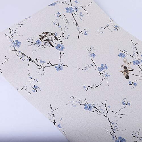 Schlafzimmer selbstklebende Tapete selbstklebende Tapete selbstklebende Tapete Wohnzimmer mit blauen Blumen Elstern 45cm * 9.8m -