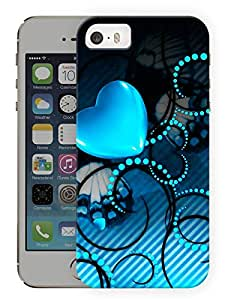 "Humor Gang Blue Heart Pattern Printed Designer Mobile Back Cover For ""Apple Iphone 5C"" (3D, Matte Finish, Premium Quality, Protective Snap On Slim Hard Phone Case, Multi Color)"