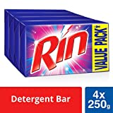 #8: RIN Detergent Bar - 250 g (Pack of 4, Rupees 8 Off)