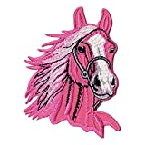 Bestellmich / Aufnäher Sew-on Distintivo/Iron-On Patch Testa di Cavallo di Guida