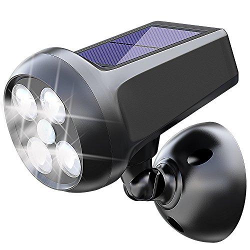 Foco Solar, MATONE Luces Solares 360° Ajustable 6W LED 300LM Lámparas Solares de Seguridad del Sensor de Movimiento, Luz de Pared Impermeable para Jardin Patio Garaje Escaleras Terraza Camino Exterior