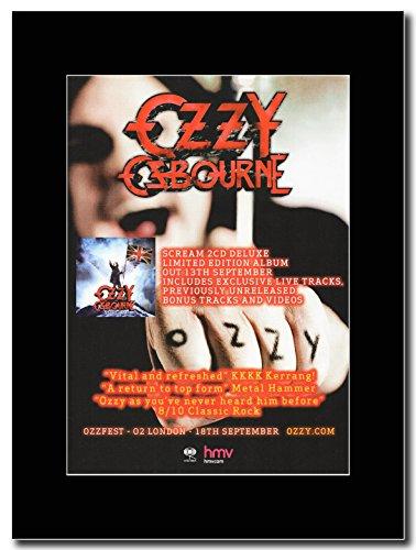 Ozzy Osbourne-Scream 2cd Edizione Limitata Deluxe magazine Promo su un nero Mount