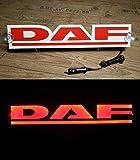 3D 24V LED Leuchtschild LKW Truck Trucker Fahrer Rot Logo Neon Schild Zubehör BELEUCHTUNG NUR VORWÄRTS - stört Sie nicht beim Fahren