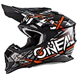 O'Neal 2Series Synthy Kinder Motocross MX Helm Youth Enduro Quad Cross Motorrad, 0200-8, Farbe Orange, Größe S