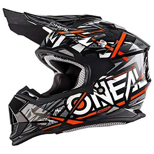 O\'Neal 2Series Synthy Kinder Motocross MX Helm Youth Enduro Quad Cross Motorrad, 0200-8, Farbe Orange, Größe L