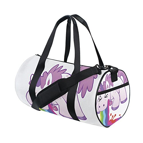 ISAOA Bolsa de Deporte Ligera con Diseño de Unicornio y Arco Iris...