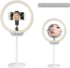 Zomei's 128 lampade Dimming Desktop Ring Light Luce LED di bellezza portatile Specificamente per video live, selfie e trucco- Bianca