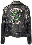 SilverBasic Blouson Cuir Moto Riverdale Serpent South Side Femme Manteau Fourrure...