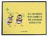 Mr. & Mrs. Panda Schreibtischunterlage Hummeln mit Kleeblatt - 100% handmade in Norddeutschland - Hummel, Biene, Spruch positiv, Biene Deko, Spruch schön, glücklich sein, glücklich werden, Spruch fröhlich Schreibtischunterlage, Schreibtisch, Unterlage Hummel, Biene, Spruch positiv, Biene Deko, Spruch schön, glücklich sein, glücklich werden, Spruch fröhlich