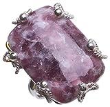 stargems (TM) Natürliche Rhodonit handgefertigt Vintage 925Sterling Silber Ring, US Größe t6770