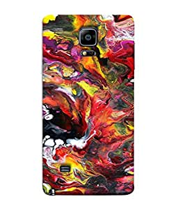 PrintVisa Designer Back Case Cover for Samsung Galaxy Note 4 :: Samsung Galaxy Note 4 N910G :: Samsung Galaxy Note 4 N910F N910K/N910L/N910S N910C N910Fd N910Fq N910H N910G N910U N910W8 (MIXED COLOURS OF WATERS IN OIL )