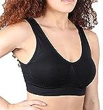 R-Dessous 1-4 St Damen Sport BH Fitness Training Bustier nahtlos ohne Bügel Top Bra starker Halt Unterwäsche Groesse: XXL/XXXL