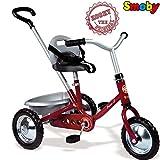 Metall Dreirad Zooky Rot mit Kettenantriebe und höhenverstellbarer Sitz: Ketten-Dreirad Trike Kinderdreirad Kinder Baby Schubstange Schiebestange