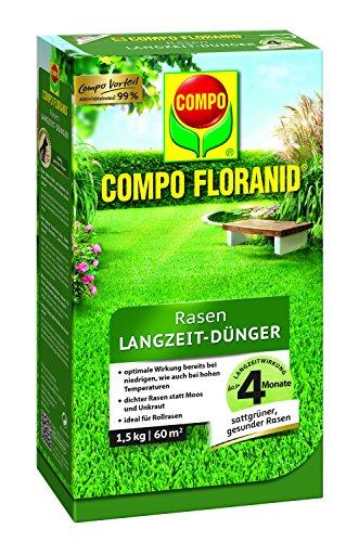 COMPO FLORANID Rasen Langzeit-Dünger, 4 Monate Langzeitwirkung, Feingranulat