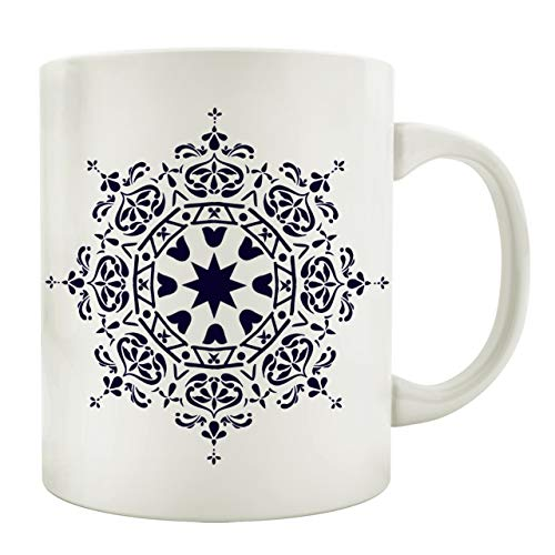 Interluxe Tasse Kaffeebecher Mandala Ibiza Style Boho Stil Bohemian Chic Geschirr Teetasse