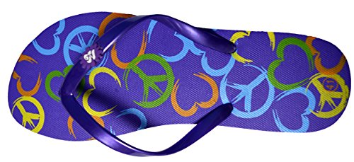 Octave® - Infradito da donna per l'estate e la spiaggia, diversi stili e colori Peace Design - Purple