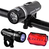 #3: Divinext Waterproof Bright 5 Led Bike Bicycle Head & Rear Lights 6