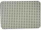 Papi Max platte Große Bauplatte 38.5 cm X 27 cm grundplatte 24 x 17 Noppen hellgrau