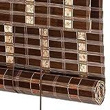 Bambusrollo, Rollläden aus Bambus-Rollos, Lichtfilter-Rollos mit Volant für Garten/Terrasse/Galerie/Balkon (größe : 120×140cm)