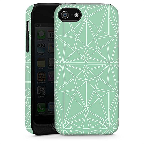 Apple iPhone 5 Housse Outdoor Étui militaire Coque Motif Motif Menthe Cas Tough brillant