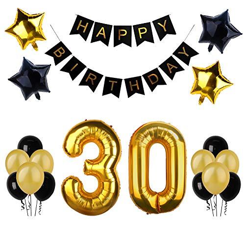 30. Geburtstag Party Dekoration, Happy Birthday Banner,