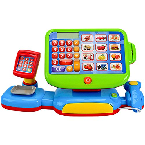 """Kinder Spiel Kasse mit \""""Touch Display \"""" inkl.Spielgeld Kaufmannsladen Sound Kaufladen mit viel Zubehör"""