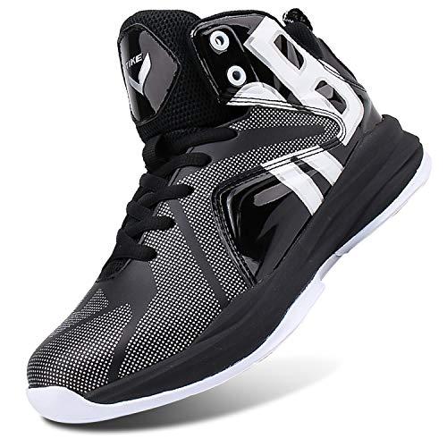 ashion Basketballschuhe Herren Jungen Turnschuhe Kinder Sportschuhe Sneaker Laufschuhe Outdoor Schuhe(A Schwarz,41 EU)