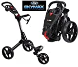 Sky Max Cube 3 Wheel Black/Black Golf Trolley Pull/Push New + Travel Cover