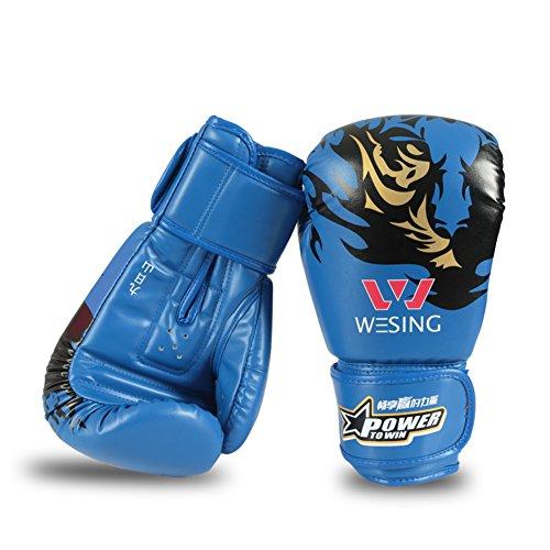 Sandsack Handschuh Erwachsene Muay Thai Handschuhe Handschuh-Blau