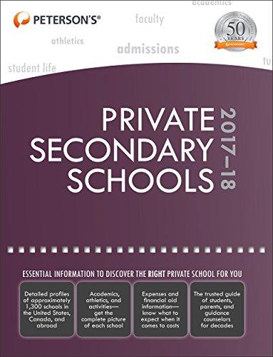Private Secondary Schools 2017-18 (Peterson's Private Secondary Schools) por Peterson'S