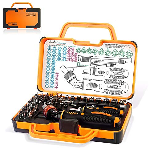 69-in-1-Schraubendreher-Bit-Set mit Sicherheitsbits Ratschenschraubendreher und Kunststoff-Werkzeugkasten Aufbewahrungskoffer für die Haushaltsreparatur Wesentliches Werkzeug
