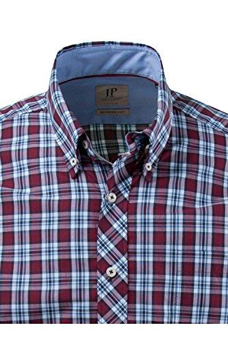 JP 1880 Homme Grandes tailles Chemise à carreaux 700961 Bordeaux
